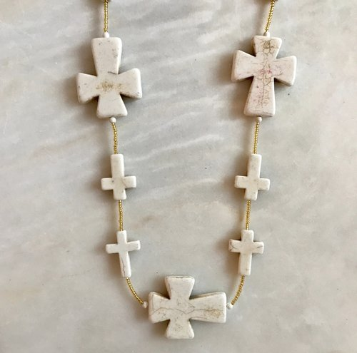 Bone Cross Necklace