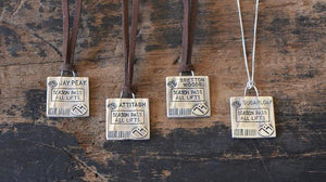 Ski Lift Ticket Pendant