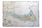 Nantucket Nautical Map Quilt