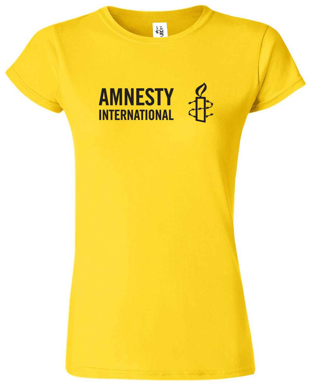 Women's T-shirt (Yellow) with Amnesty International USA Logo