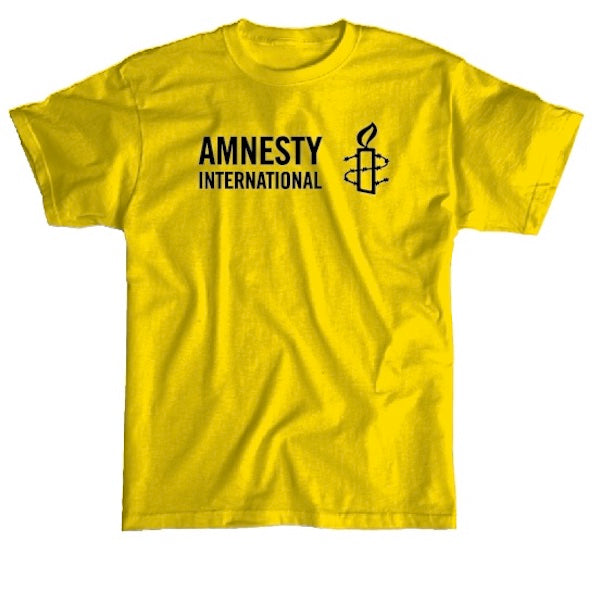 T-shirt (Yellow) with Amnesty International USA Logo