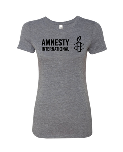 Amnesty International USA Logo Women's T-shirt (Grey)