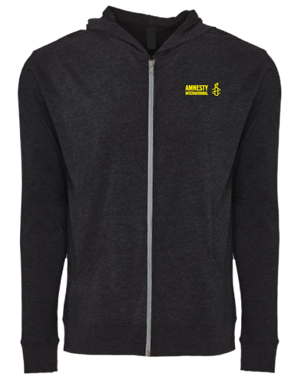 Zip Hoodie with Amnesty International USA Logo