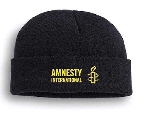 Amnesty International USA Logo Black Knit Cap