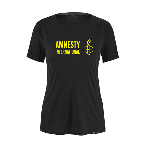 Women's T-shirt (Black) with Amnesty International USA Logo