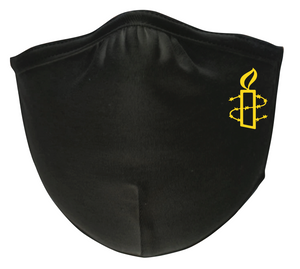 Black Cotton Mask with Yellow Logo- Pack of 3 Face Masks