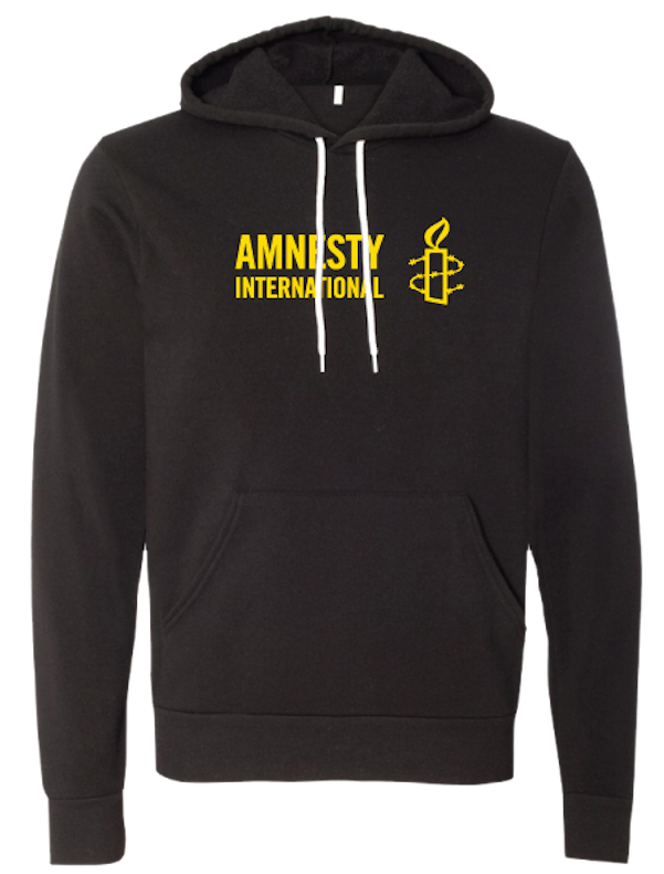 Pullover Hoodie with Amnesty International USA Logo