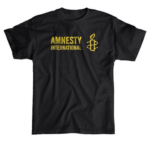 Amnesty International USA Logo T-shirt (Black)
