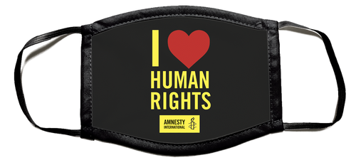 I Heart Human Rights Face Mask- Pack of 3