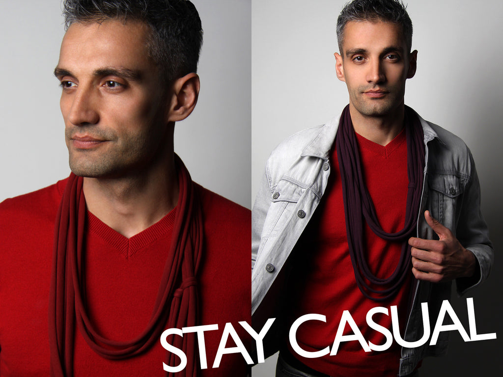 Men's Scarf Photoshoot: Stay Casual