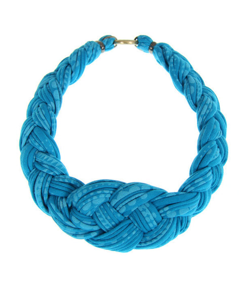 Light Blue Braided Necklace