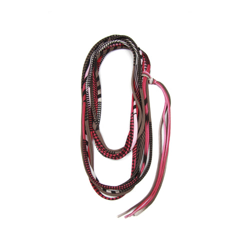 Burgundy Skinny Scarf Necklace
