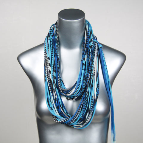 Blues Black Infinity Scarf