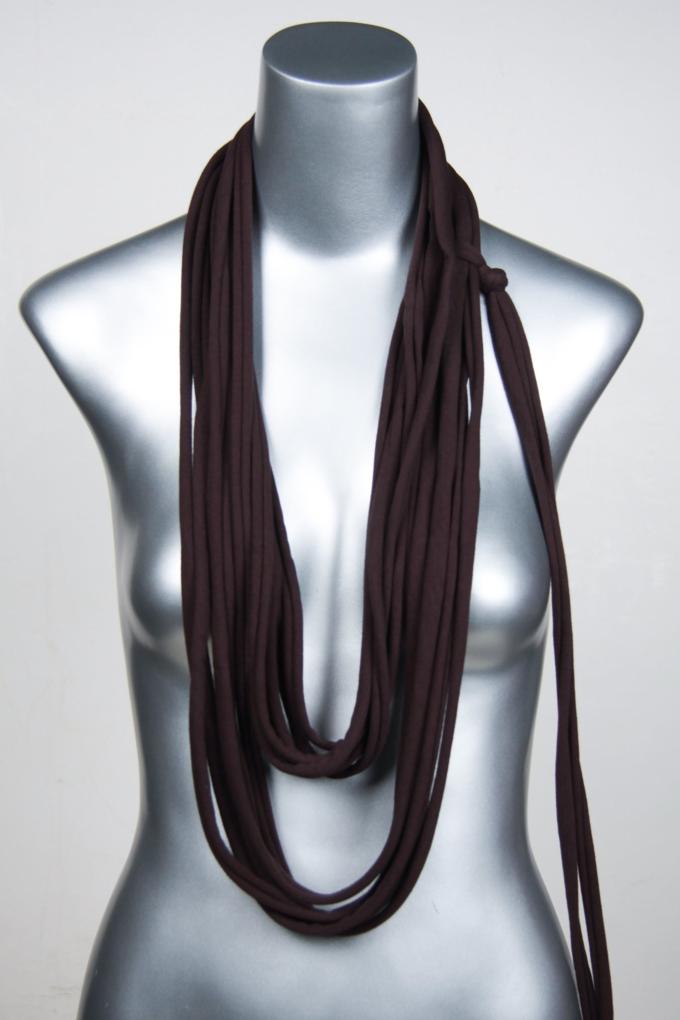 Necklush Long Scarf / Brown / Unisex