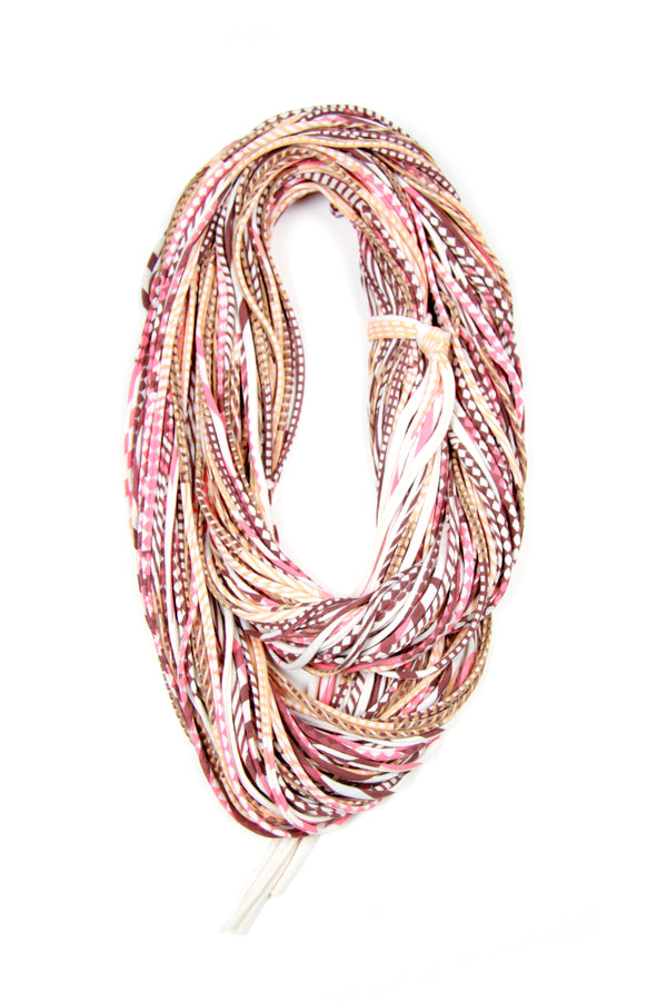 Peach & Living Coral Chunky Scarf