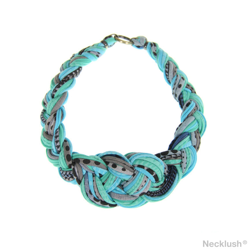 Mint Green Braided Necklace