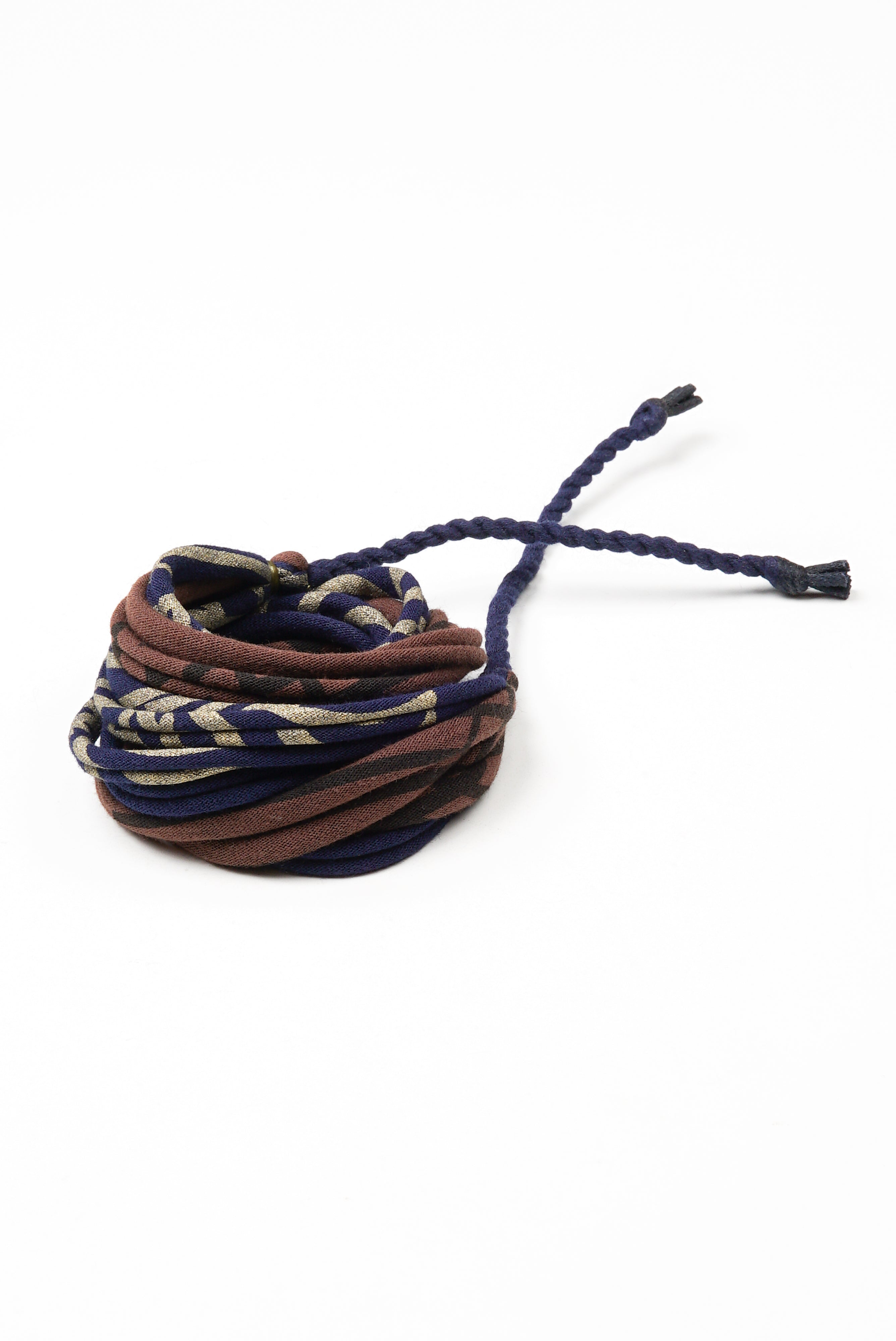 Necklush Navy Blue Brown Gold Print Bracelet