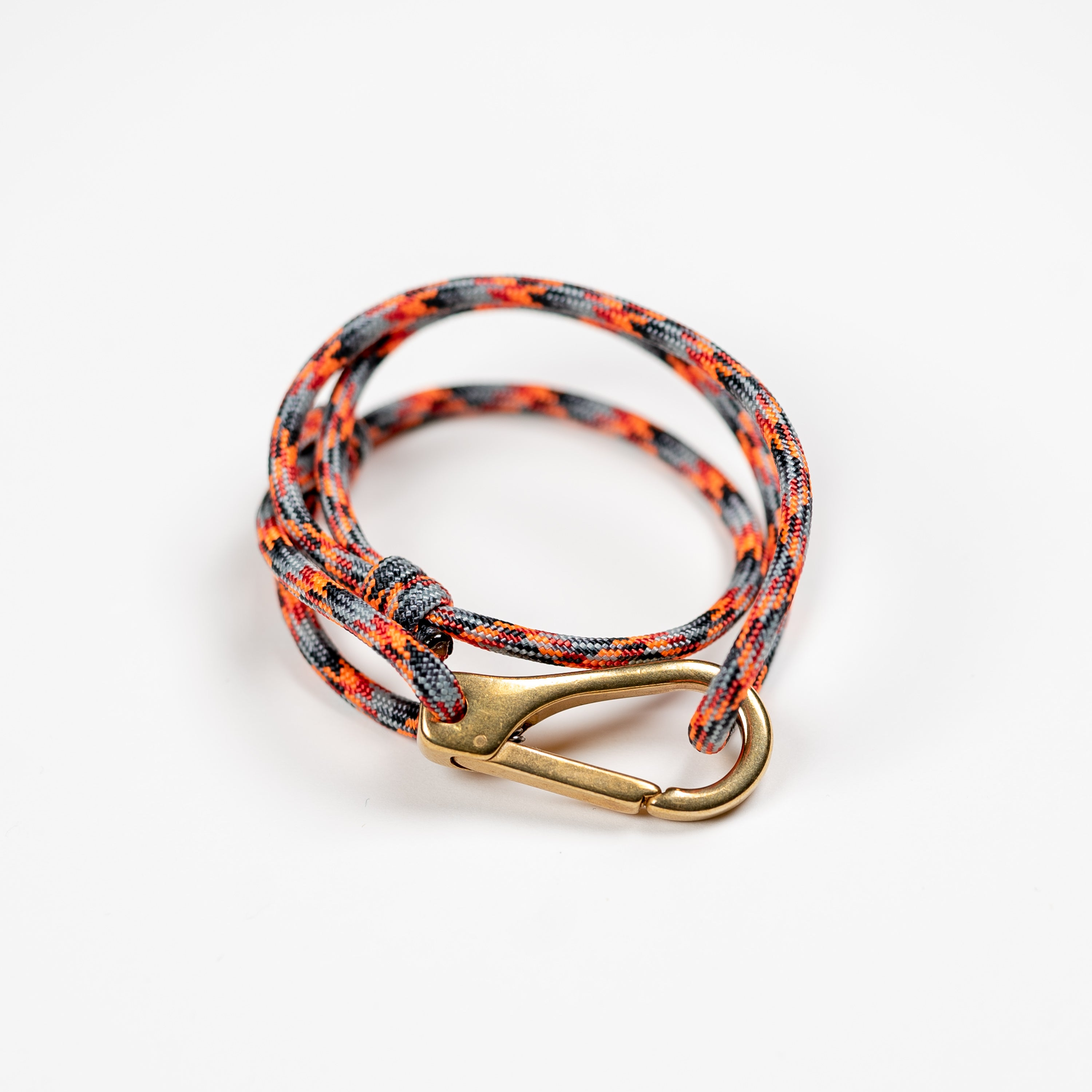 Orange Paracord Nautical Bracelet Mens Womens