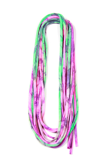 Purple & Green Skinny Scarf