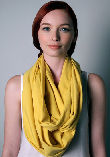 Yellow Circle Scarf Necklush