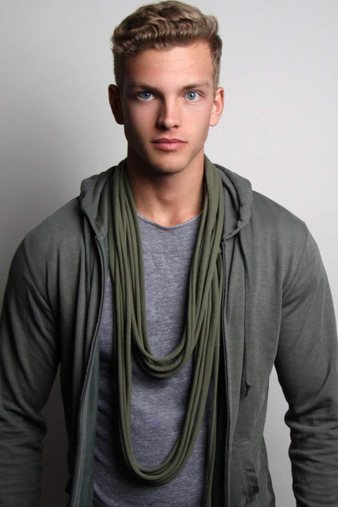 Army Green Long Scarf-scarves-Necklush