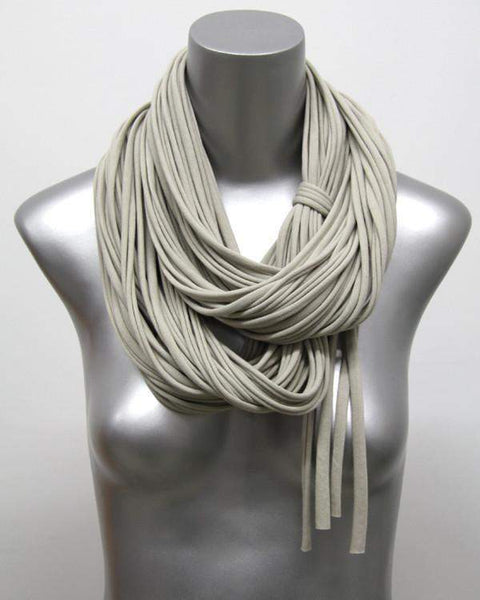 Beige Brown Chunky Scarf-scarves-Necklush