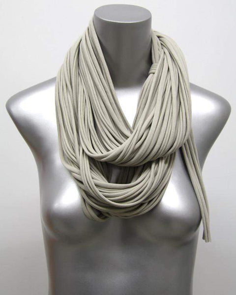 Beige Brown Chunky Scarf