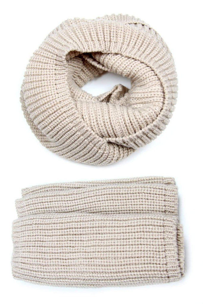 Beige Brown Scarf