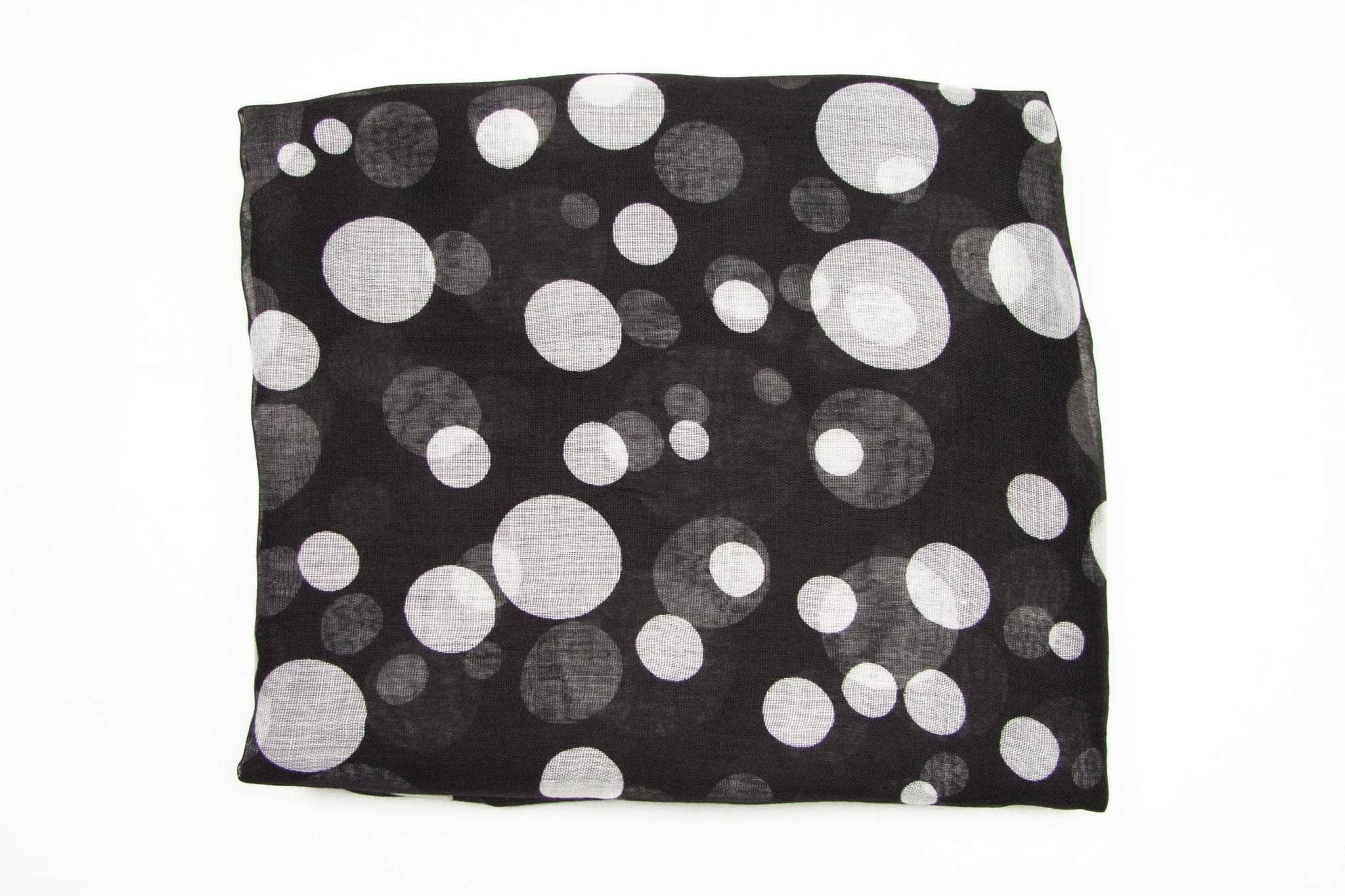 Black White Polka Dot Scarf-scarves-Necklush