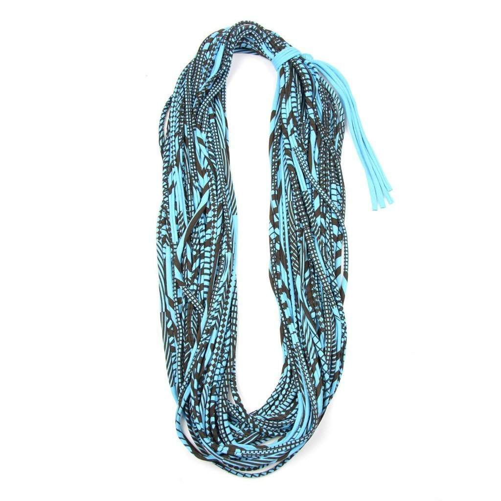 Blue Brown Cowl Scarf-scarves-Necklush