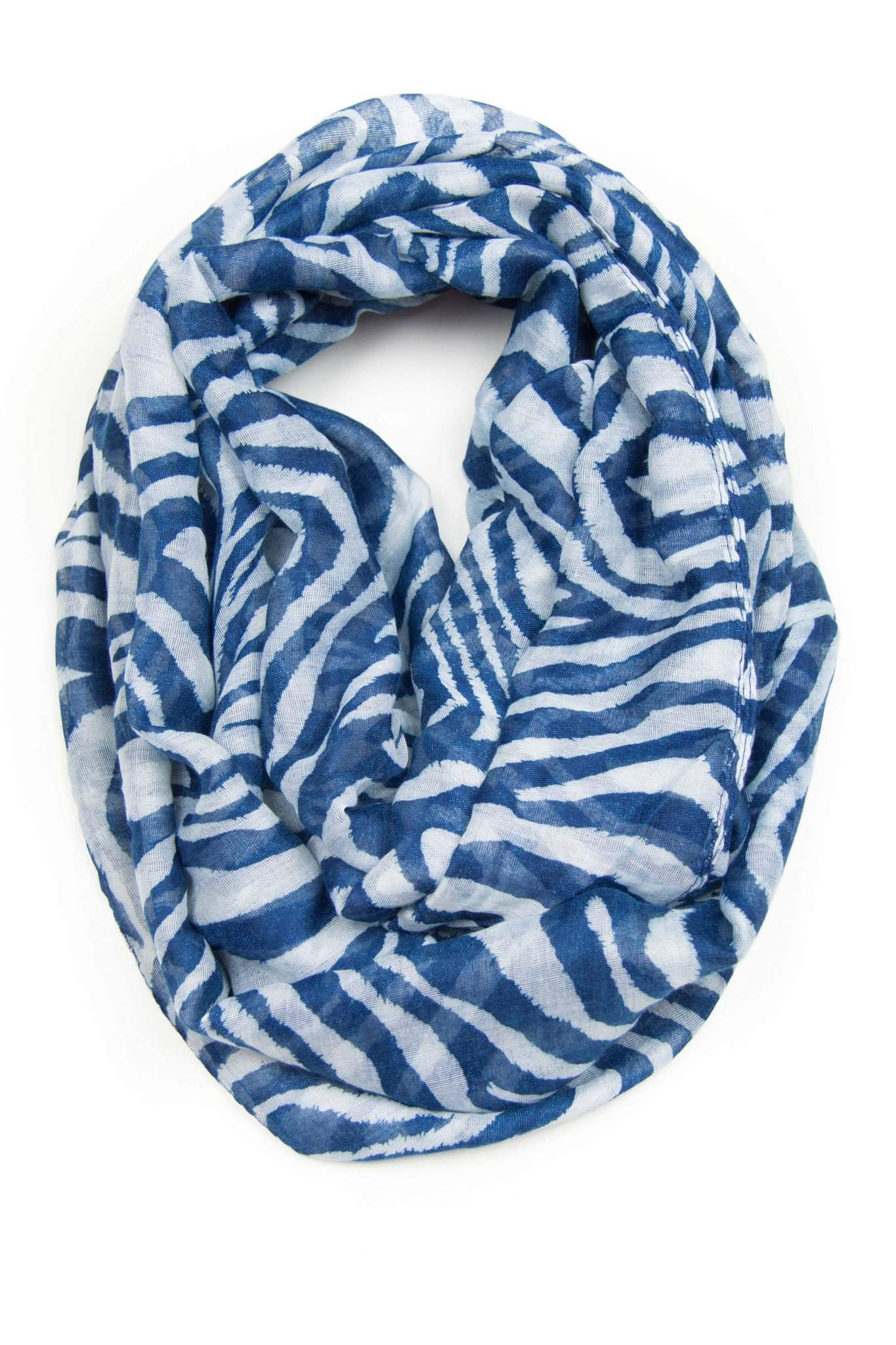 Blue white Infinity Scarf