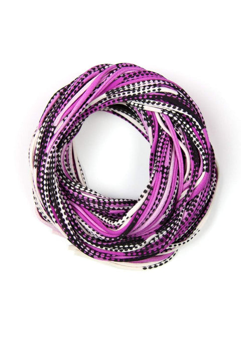 Bright Purple Black Chunky Scarf-scarves-Necklush