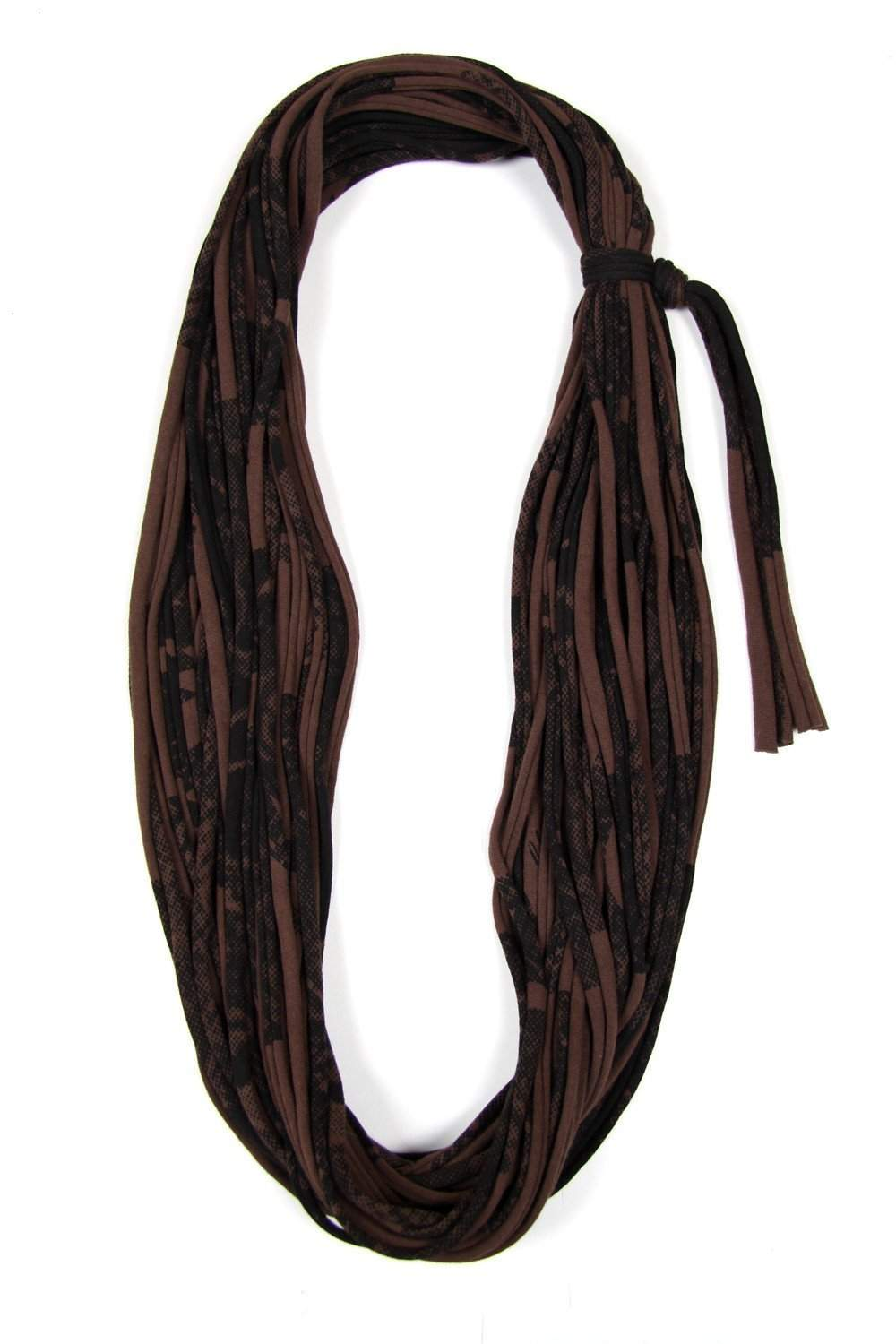 Brown Black Cowl Scarf-scarves-Necklush