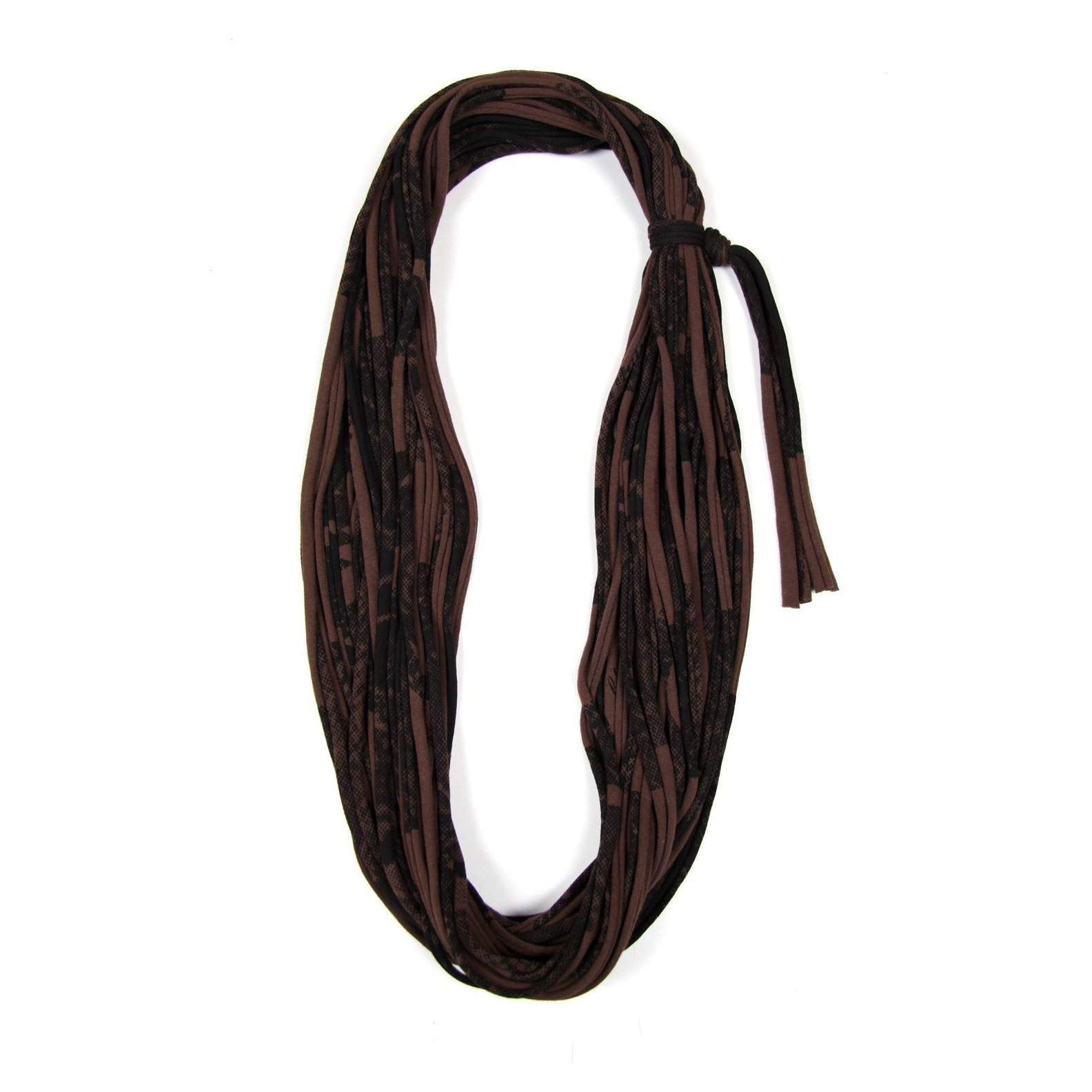 Brown Black Cowl Scarf