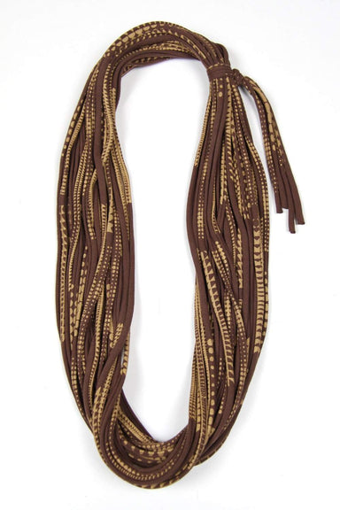 Brown Gold Cowl Scarf-scarves-Necklush