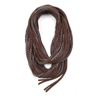 Brown Gray Chunky Scarf-scarves-Necklush