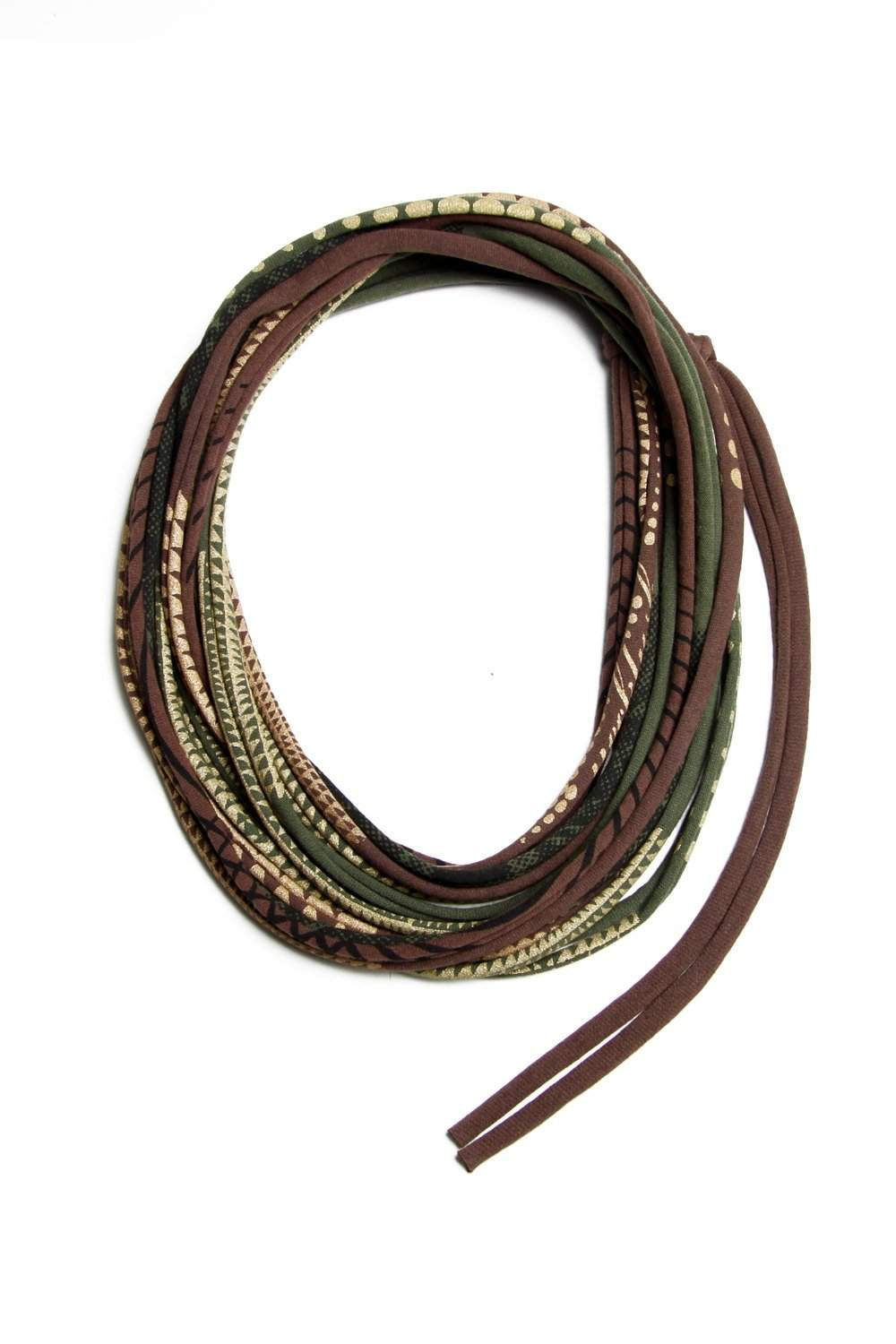 Brown Green Necklace-necklaces-Necklush