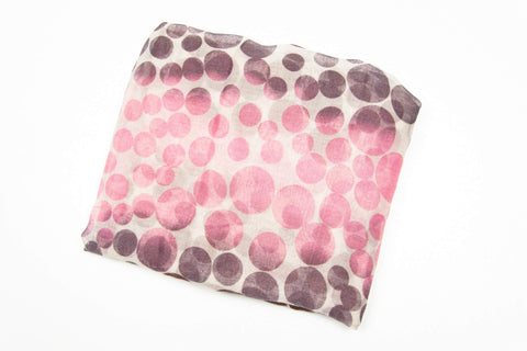 Brown Plum Purple Pink Dot Scarf-scarves-Necklush