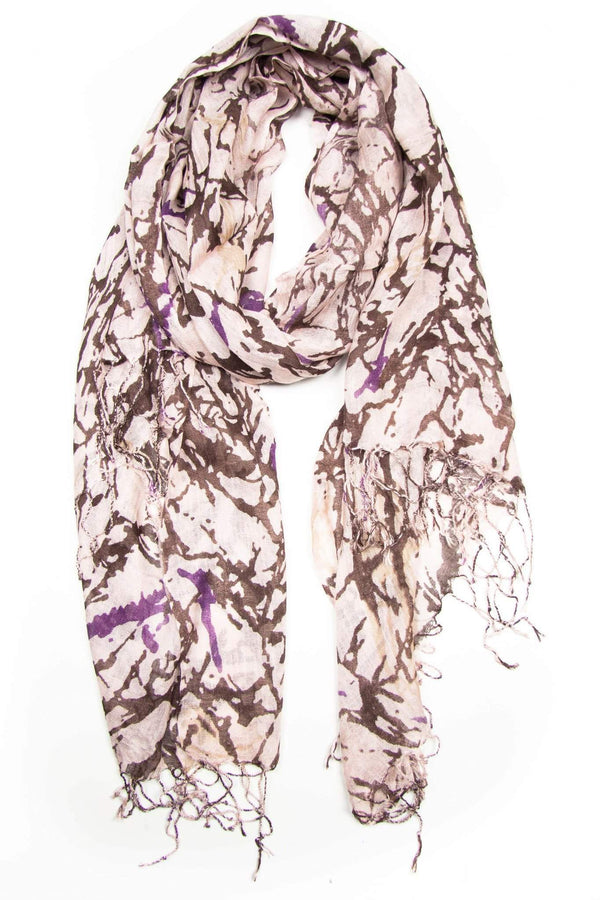 Brown Plum Scarf