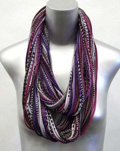 Burgundy Brown Purple Chunky Scarf-scarves-Necklush