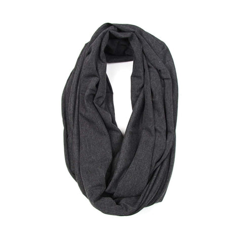 Charcoal Gray Circle Scarf-scarves-Necklush