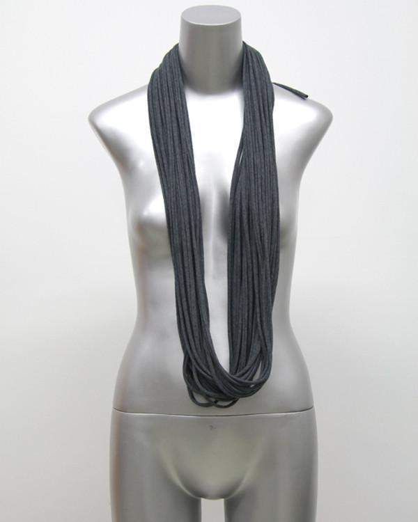 Charcoal Gray Cowl Scarf-scarves-Necklush