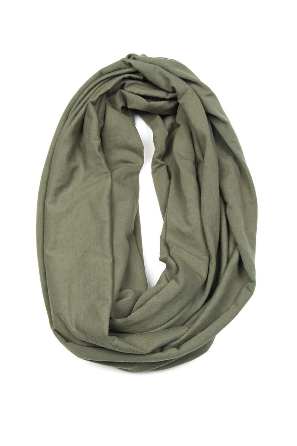 Circle Scarf / Army Green-scarves-Necklush