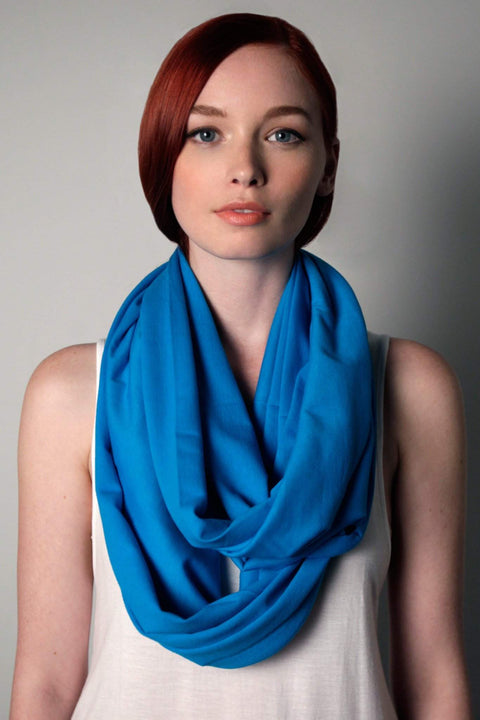 Cobalt Blue Circle Scarf