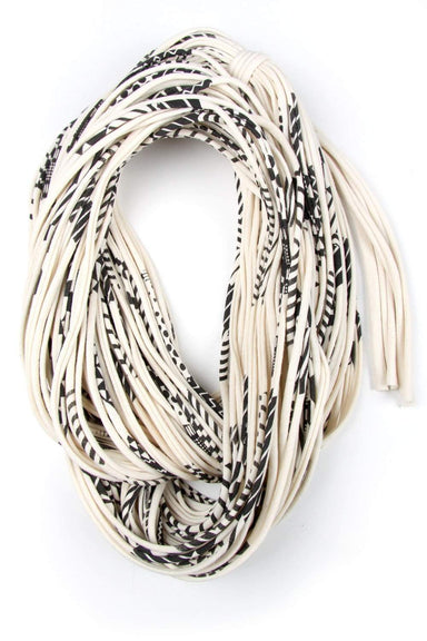 Cream White Black Chunky Scarf-scarves-Necklush