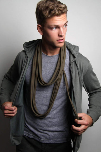 Dark Army Green Long Scarf-scarves-Necklush