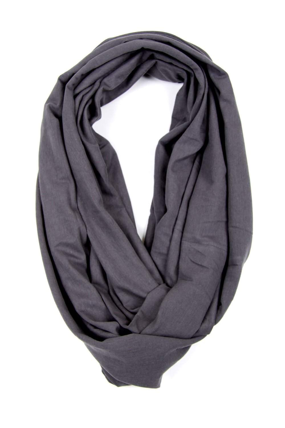 Dark Gray Circle Scarf-scarves-Necklush