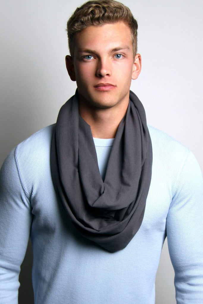 Dark Gray Circle Scarf