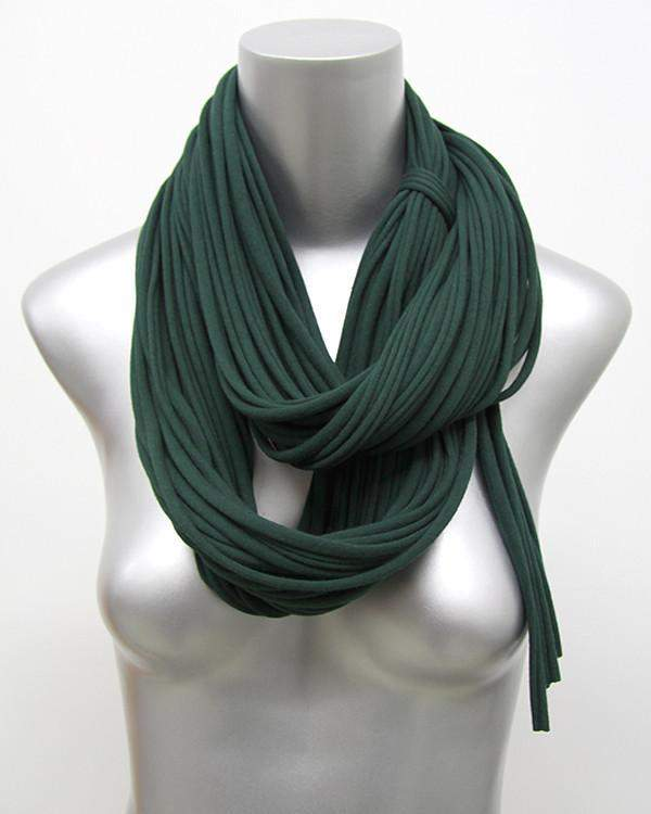 Deep Green Chunky Scarf-scarves-Necklush