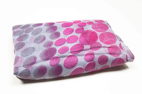 Deep Pink Purple Gray Dot Scarf-scarves-Necklush